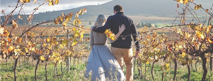 man and woman in wineland