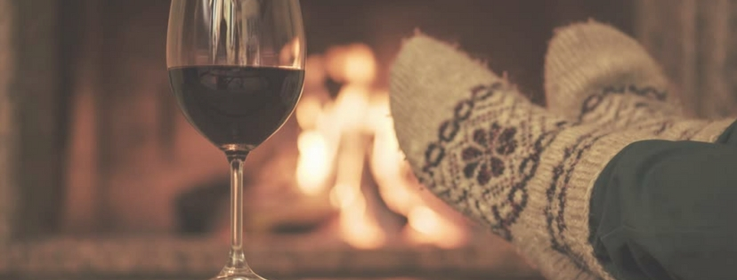 warm socks and wine by fire