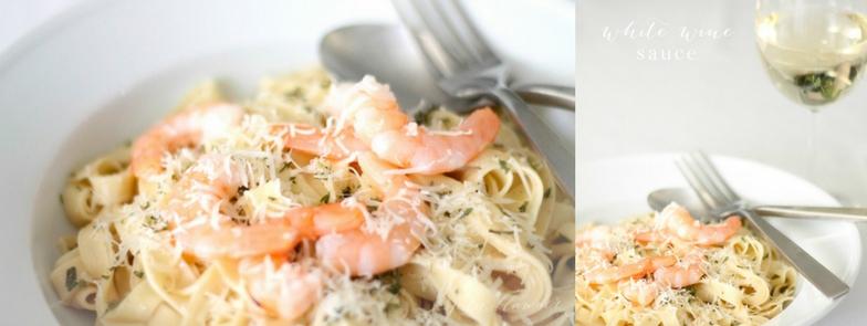 white wine pasta