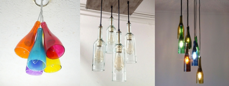 Clever ways to reuse wine bottles the constantia wine tour for How to make your own wine bottle chandelier
