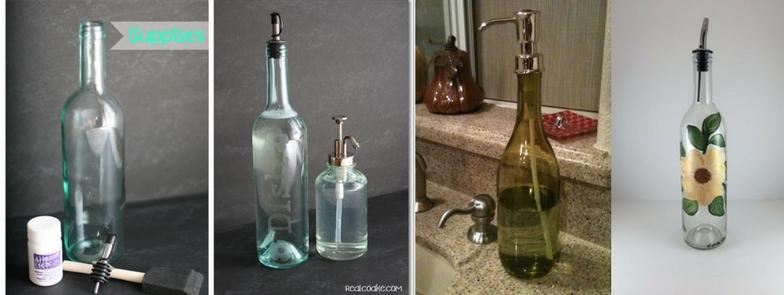 wine bottle soap dispenser